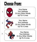 30 Spiderman Personalized Address Labels