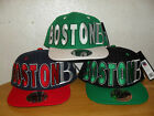BRAND NEW FLAT PEAK VINTAGE BOSTON (B) SNAPBACK BASEBALL CAP WITH TAGS