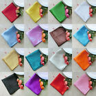 "100pcs 12"" Square Satin Cloth Napkin or Pocket Handkerchief Color U Pick NPK-S"