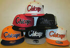 BRAND NEW FLAT PEAK VINTAGE CHICAGO SNAPBACK BASEBALL CAP WITH TAGS