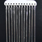 """12 x Silver Plated FLAT SNAKE Metal Necklace Chains 16"""" 18"""" 20"""" 22"""""""