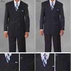New Men's Milano Moda 2 piece Double Breasted Stripes Fashion Suit sty-5901