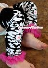 Baby Girls Demask Pattern Print Leg Warmer Legging with Various Colorful Ruffles