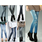 New Women Slim Fit Denim Pants Footless Skinny Denim Jeans Look Leggings
