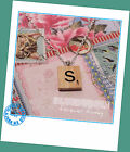 ♥FUNKY WOODEN VINTAGE SCRABBLE STYLE SILVER NECKLACE KITSCH INITIAL LETTER BOHO♥