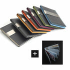GoldColor Money Clip Wallet 7 Color Faux Lather Card Holder FREE Laser Engraving