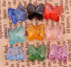 100pcs Multicolor Acrylic Faceted Butterfly Style Spacer Beads Jewelry Making