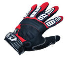 Cycling Bike Bicycle Nylon full finger gloves Size M -XL RED