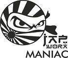 JAPWORX MANIAC VINYL DECAL jap worx car club sticker logo ninja