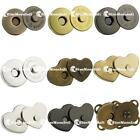 """10 25 50 100 pcs 9/16"""" 3/4"""" 14mm 18mm Magnetic snaps purse closures Round Love"""
