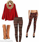 Milkyway Graphic Print Leggings Espresso Multi Small Medium Large Made USA NEW