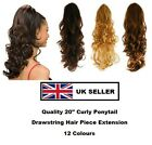 CURLY DRAWSTRING PONYTAIL HAIR PIECE QUALITY EXTENSION ANGEL BLONDE BROWN BLACK