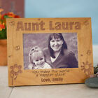 Personalized Aunt or Any Title Picture Frame Engraved Wood Aunt Photo Frame Gift