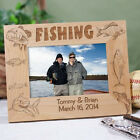 Personalized Fishing Fisherman Picture Frame Engraved  Fishing Photo Frame 3 Sz
