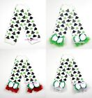 XMAS Baby Girls Christmas Tree Leg Warmer Legging with Ruffles and Bow Ribbon