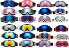 Small Kids Youth Pink White Snow Snowboarding Ski Goggles Polycarbonate Lens