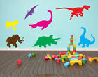 Dinosaurs Childrens/Kids Mixed Wall Art Stickers, Various Colour Options