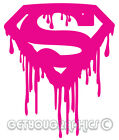 Supergirl Slime Pink S Logo Iron On T-shirt Hoodie Vest Heat Transfer Print