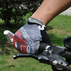 Brand New Gel Cycling Bike Bicycle Full Finger Gloves Grey Red Color Size M - XL