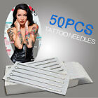 50 x Tattoo Needles - Round Liner / Shader / Flat - rl,rs,f - All Sizes - UK!!