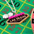 FUNKY CASINO THEME NECKLACE KITSCH RETRO POKER NOVELTY COOL FANCY DRESS CUTE
