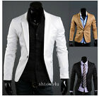 Premium Men Fitted One Button Dress Suit Coats Blazer casual jacket (3 colors)