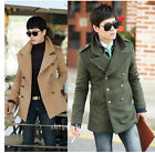 New! Korean men's casual double-breasted trench coat ( 3 color 4 size )