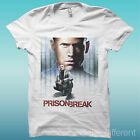 "T-SHIRT "" PRISON BREAK ""  BIANCO THE HAPPINESS IS HAVE MY T-SHIRT NEW"