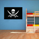 Pirate Flag Vinyl Wall Design - Pirate Theme Childrens Bedroom - Various Sizes