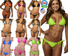 - BRAZILIAN TIE SIDE BIKINI BOTTOM AND/OR TRI-TOP - SEPARATES - SEXY SWIMWEAR -