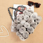 0276 Genuine Winter Women Real New Rabbit Fur Hand Shoulder Bag Purse