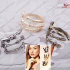 2pcs antique silver bronze tone finger rings bird eagle claw punk rock wrap cuff
