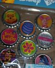 WINNIE THE POOH DISNEY TIGGER EEYORE PIGLET STICKERS BOTTLE CAPS SCOTCH TAPE