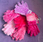 BNWT Feather Shimmer Gloves -Cheap Xmas Gift- Girls/Womens VARIOUS Winter Pink