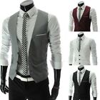 2015 Fashion Men's Slim Fit Formal Casual Dress Vest Suit Waistcoat Jacket Coats