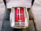 Classic '58 LINCOLN CONTINENTAL MARK III RED CHROME Closionne Nickel Silver Ring