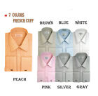 Men's Classy George's French Cuff Tone on Tone Formal Casual Dress Shirt sty-209