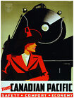 414.Travel Canadian Pacificl Art Decor POSTER.Graphics to decorate home office.