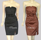 Princess Charm Black  Brown Cocktail Pencil office Dress Size 10 New