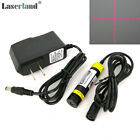 16*68mm 648nm 650nm 100mW Red CROSS Focusable Laser Module Diode LD + adapter