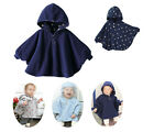 Children Baby Boys Girls Toddle Hoodie Poncho Cloak Coat Jacket 0.6~3 years