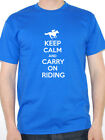 KEEP CALM AND CARRY ON RIDING - Horse / Horses / Equestrian Themed Mens T-Shirt