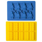 Brick Ice Cube Tray Silicone Mould Build Fun Lego Man Bricks For Cake Chocolate
