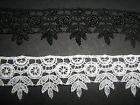 Black / White Flower Venise / Guipure Lace  Sewing/Costume/Corsetry