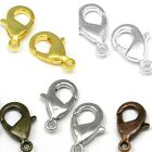Lot of 10 Plated 15mm Long Lobster Claw Trigger Lever Clasps with Closed Loop