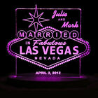 Personalized Wedding Cake Topper Las Vegas Cake Topper Optional LCD Lighted base