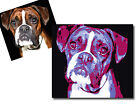 POP ART PRINT OF YOUR PET ON CANVAS - Framed Wall Art - Choose Size & Colour