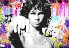 JIM MORRISON THE DOORS QUALITY SILK POSTER Colourful Wall Art Choose Size