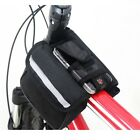 2014 Cycling Bicycle Trame Pannier Front Tube Bag Black with rain cover