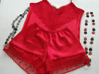 RETRO STYLE SATIN CAMI TOP AND FRENCH KNICKER SET - MADE IN THE UK
